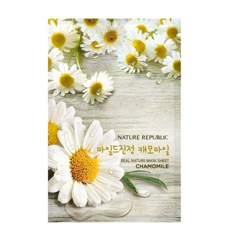 Маска с ромашкой Real Nature Chamomile Mask Sheet от Nature Republic
