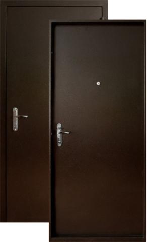 Дверь входная Форт Форт Б-2, 2 замка, 1,8  металл (медь антик+медь антик)