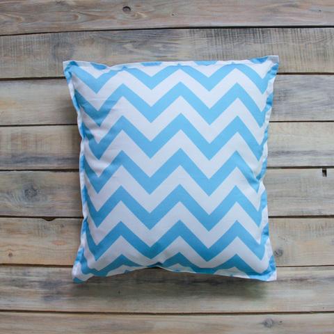 Подушка Blue Zigzag голубые зигзаги