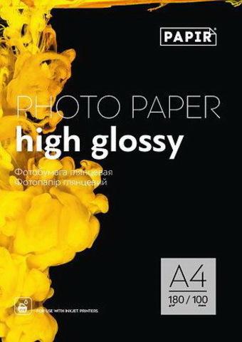 Фотобумага глянцевая Papir A4 180g (100sheets)