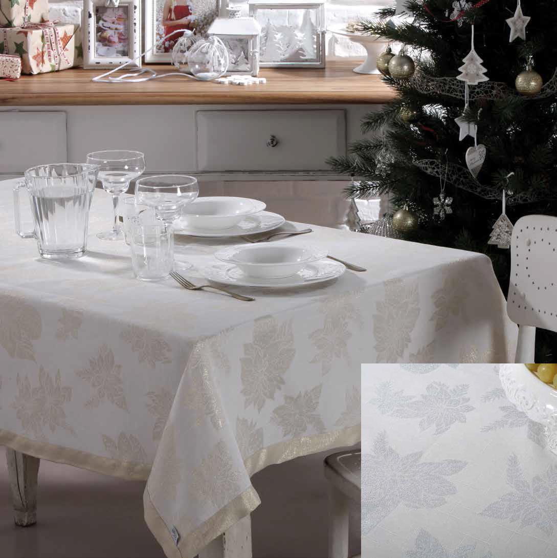 Скатерть 140x240 Vingi Ricami Luxury серебро