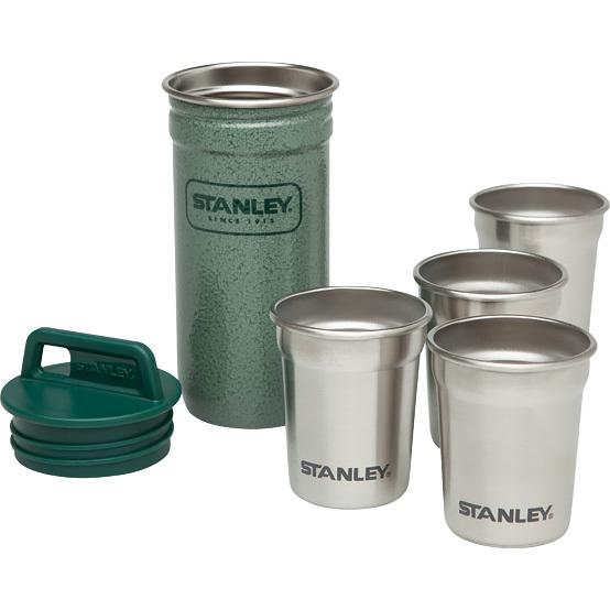 Набор стопок Stanley Adventure ( 4 шт по 0.59 литра + футляр) зеленый