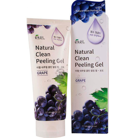 Пилинг скатка с экстрактом винограда Ekel Grape Natural Clean Peeling Gel 180ml.