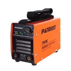Аппарат сварочный инверторный PATRIOT 170DC MMA, входное напряжение: 1ф,140-240В; сварочный ток мин/макс: 20/160A; ПВ при макс. токе: 60%@40°C, ARC FORCE, ANTI STICK, HOT START