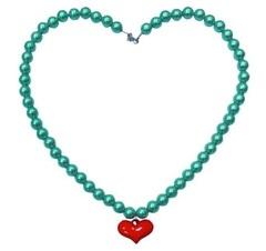 Харли Квинн ожерелье жемчужное