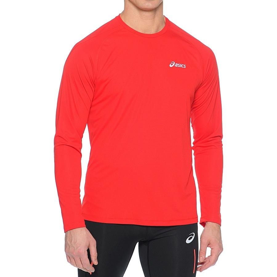 Мужская рубашка для бега Asics LS Crew (114510 6015) красная фото