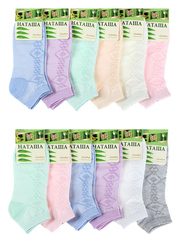 6731 Наташа носки женские 37-41 (12 шт.) цветные