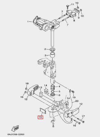 Пластина амортизатора для лодочного мотора F20 Sea-PRO (20-15)