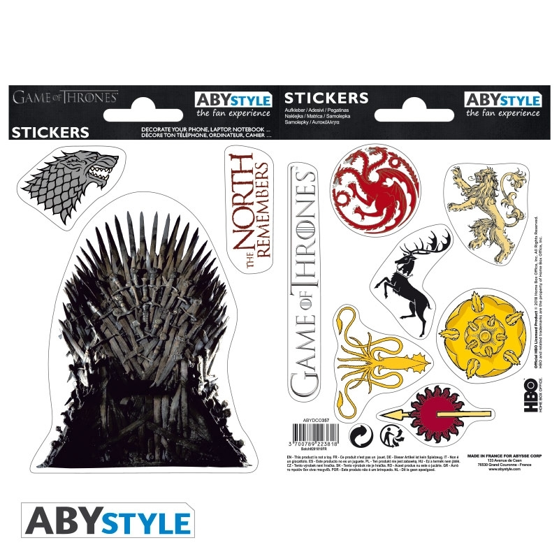 Наклейки ABYstyle: Game of Thrones: ABYDCO357