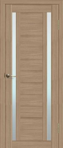 Дверь Fly Doors L-23, стекло матовое, цвет тиковое дерево 3D, остекленная