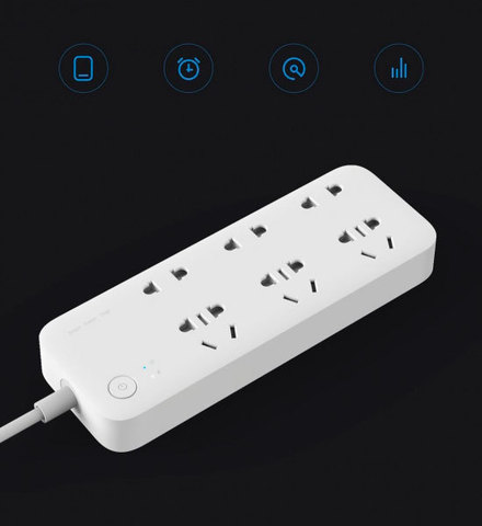 Удлинитель Xiaomi Mi Power Strip 6 Sockets + Wi-Fi White/Белый