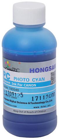 Чернила DCTec PFI-1700PC фото синий (photo cyan). 200мл пигмент (193540)
