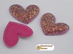 Мягкий декор Сердца конфетные малиновые