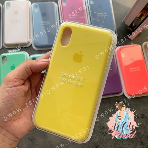 Чехол iPhone XR Silicone Case Full /canary yellow/ канареечный