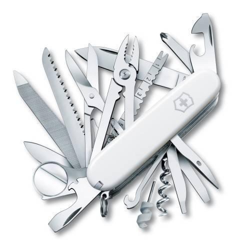 Складной многофункциональный нож Victorinox SwissChamp (1.6795.7R) 91 мм., 33 функции, цвет белый