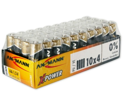 Батарейка ANSMANN X-Power AA (1.5V) - 40 шт.