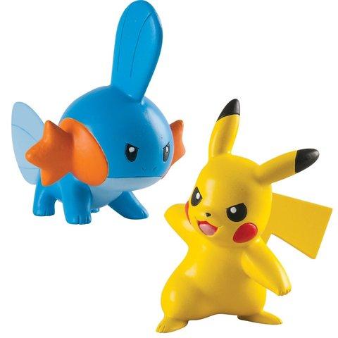 Набор из 2 Фигурок Покемонов Мадкип и Пикачу (Mudkip vs Pikachu) - Покемоны, TOMY