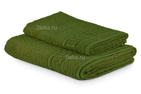 Полотенце махровое гладкокрашеное (Оливковый)
