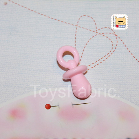 Соска пустышка пластиковая (розовая XL) М151