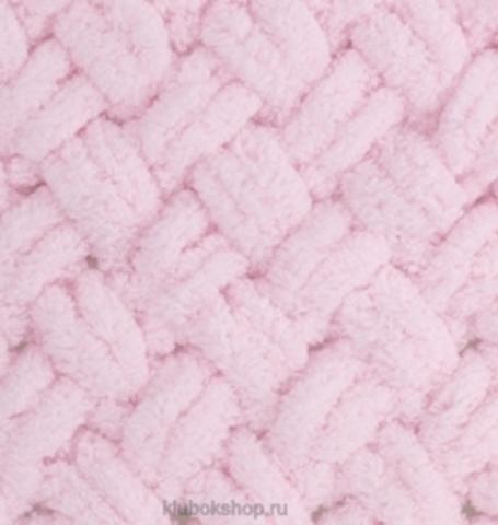 Пряжа Puffy Alize 31 Светло-розовый - толстая бархатистая пряжа для вязания руками. Купить в интернет-магазине недорого klubokshop.ru