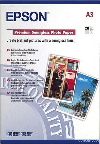 Полуглянцевая фотобумага Epson Premium Semigloss Paper A3 C13S041334
