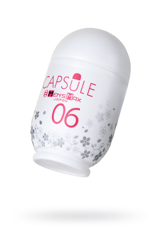 Мастурбатор нереалистичный,  CAPSULE 06, Sakura, MensMax, TPE, белый, 8 см фото
