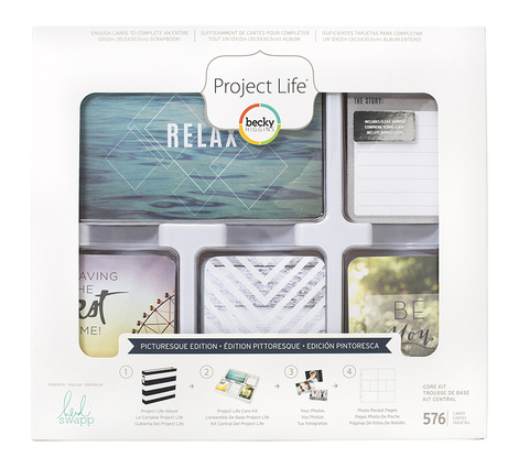 Picturesque edition CORE KIT- комплект карточек для Project Life 576шт