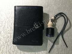 Комплект №3: Мужское Портмоне, Обложка для автодокументов из натуральной кожи Флотер и парфюм для авто.