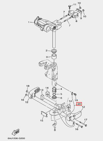 Провод заземления для лодочного мотора F20 Sea-PRO (20-20)
