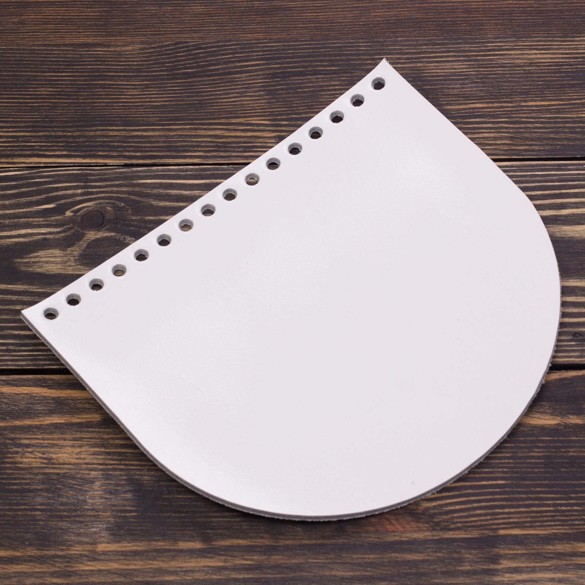 Вся фурнитура Клапан для сумочки кожаный белый лак IMG_3764.jpg