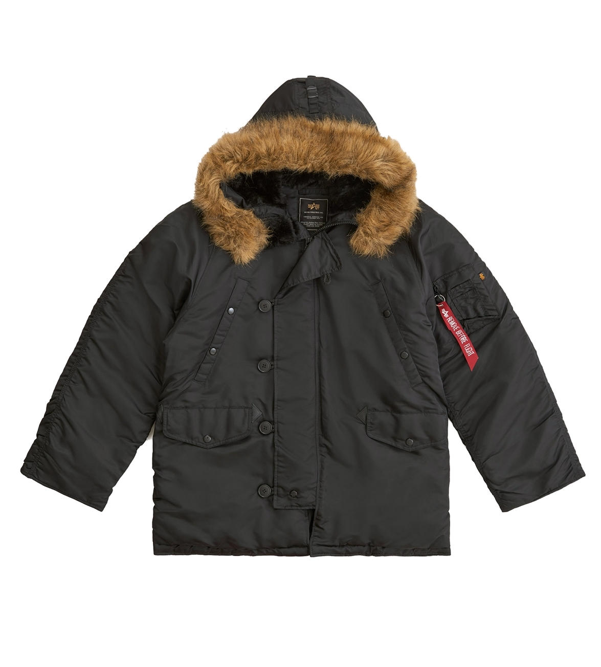 Парка Alpha Industries N-3B Regular Fit Black (черная)