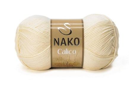 Пряжа Nako Calico медовый 481