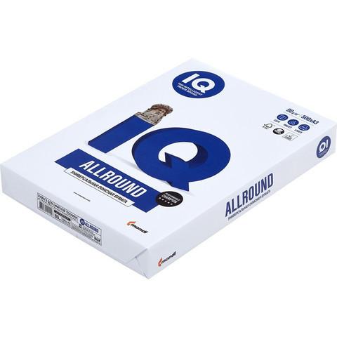 Бумага для ОфТех IQ ALLROUND (А3,80г,162%CIE) пачка 500л.