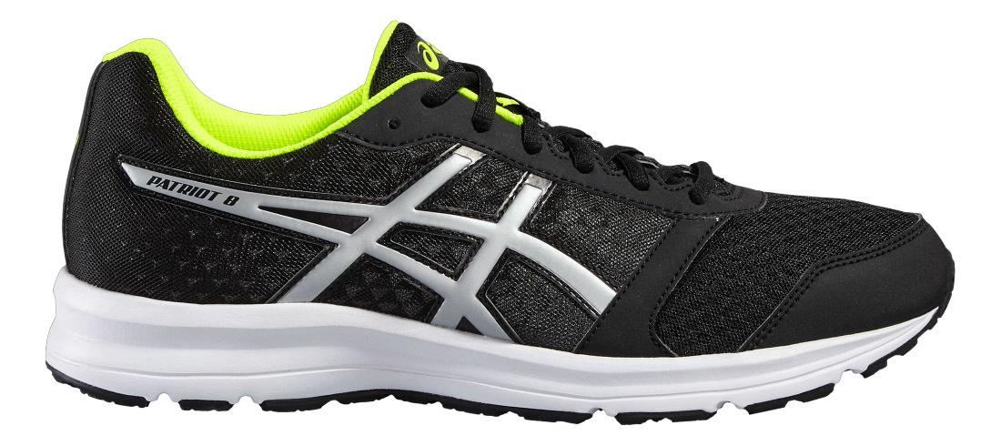 Мужская беговая обувь Asics Patriot 8 T619N 9993 черные - фото, цена, технологии