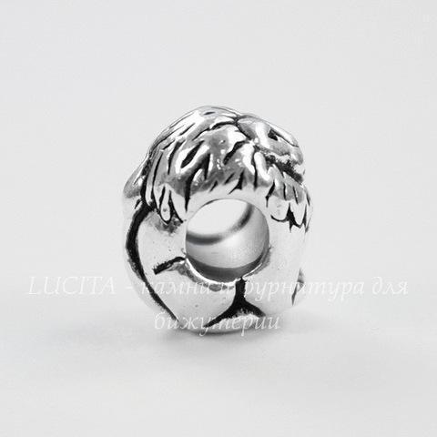 "Бусина TierraCast ""Лев"" 12х10х9 мм (цвет-античное серебро)"