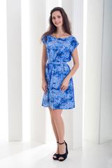 Рута. Легкое женское платье больших размеров. Светлый цветок