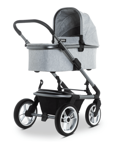 Коляска Moon Solitaire 2 в 1 Light Grey + Автокресло Cybex Aton M i-Size