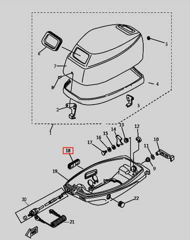 Заглушка для лодочного мотора T9.8 Sea-PRO (1-18)
