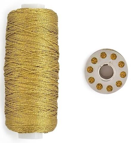 Катушка нити и шпулька для шитья We R Stitch Happy Twine -2шт- Gold
