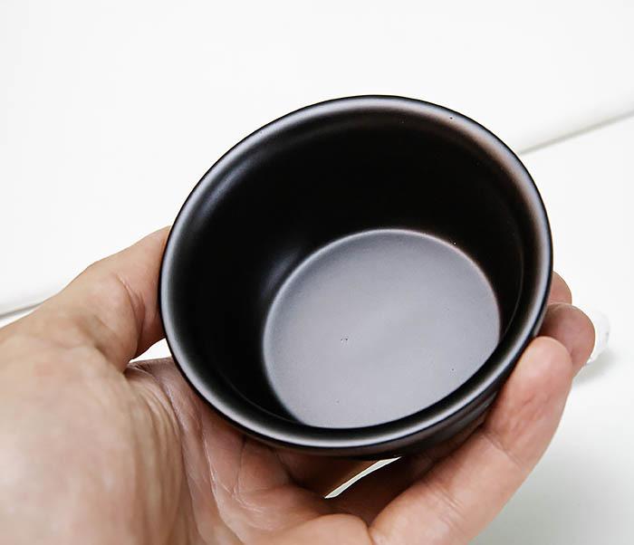 RAZ516 Черная стальная чаша для бритья с крышкой фото 08