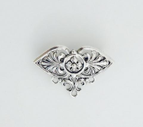 "Основа для броши Quest Beads ""Розетта"" (цвет-античное серебро) 34х24 мм"