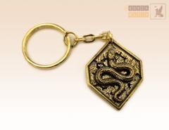 брелок Змея с иероглифом (ромб)