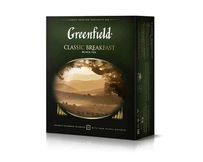 Чай черный в пакетиках Greenfield Classic Breakfast, 100 пак/уп
