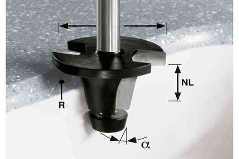 Фреза для установки моек HW R6.35/25/6° ss S12