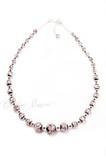 Ожерелье Арлекино серебристое длинное