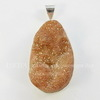 Подвеска Кварц в рамке (цвет - античное серебро) 40х24,2х16,7 мм №1