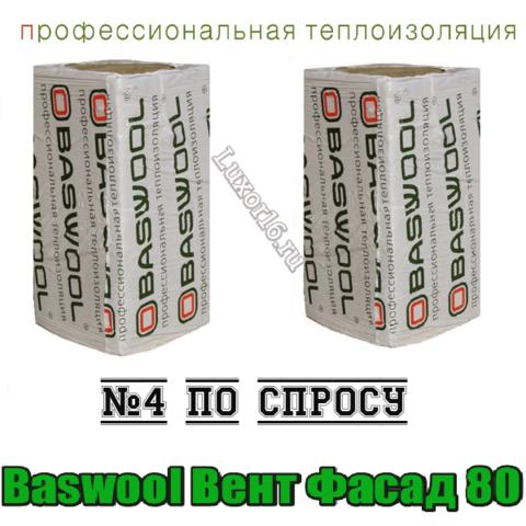 Baswool Вент Фасад 80 1200*600мм толщина 50/100мм