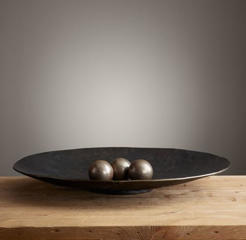 Antiqued Metal Platter Collection
