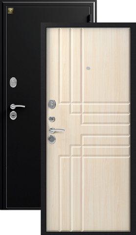 Дверь входная Зевс Z-2, 2 замка, 1,5 мм  металл, (чёрный шёлк+клён шёлк)