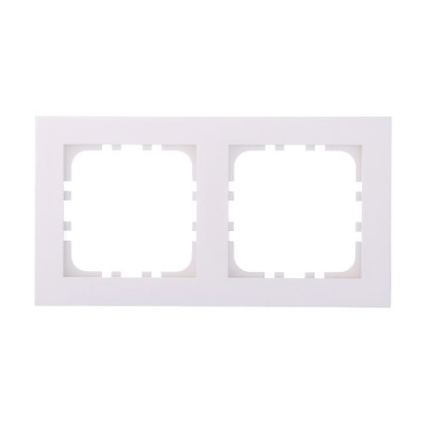 Рамка на 2 поста. Цвет Белый. LK Studio FLAT (ЛК Студио Флет). 844204